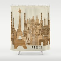 marley Shower Curtains featuring Paris city vintage by bri.buckley