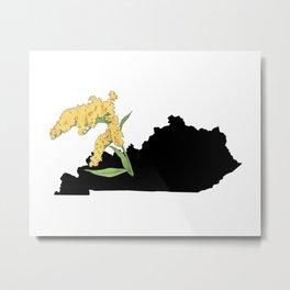 Kentucky Silhouette Metal Print