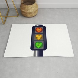Yes No Maybe Traffic Lights Rug