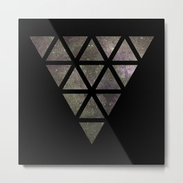 Galaxy Triangular Bicolor Metal Print