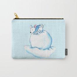 A Fluffball on a Snowball Carry-All Pouch