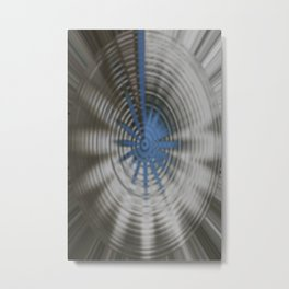 A Touch of Blue Metal Print