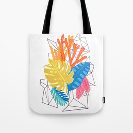 Leaves and corals Tote Bag