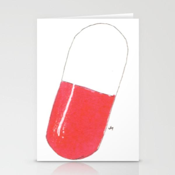 A Pill Stationery Cards by Jenniferhoyden CRD891966