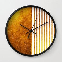 Gold Sun Wall Clock