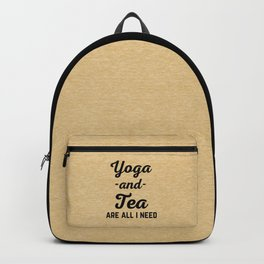 Yoga And Tea Funny Quote Backpack