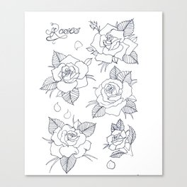 With Love, From Roses Canvas Print