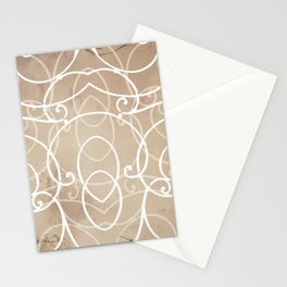 Design 136 brown abstract Stationery Cards