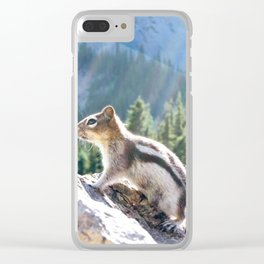 Majestic Squirrel Clear iPhone Case