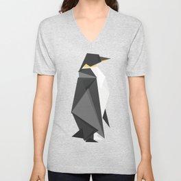 Fractal geometric emperor penguin Unisex V-Neck