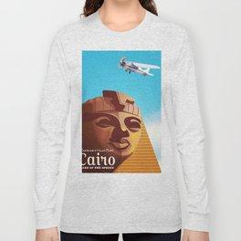 Cairo flight vintage travel poster Long Sleeve T-shirt