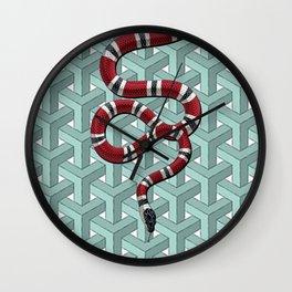 Goyard Cheveron Pattern snake Wall Clock