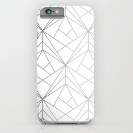 Geometric Silver Pattern iPhone Case