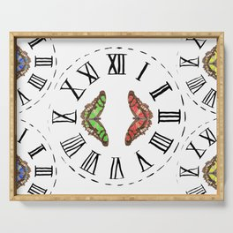 My Fluttery Clock Serving Tray