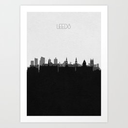 City Skylines: Leeds Art Print
