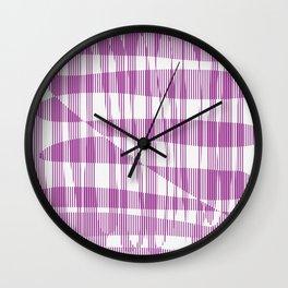 Purple/Violet Pattern Wall Clock