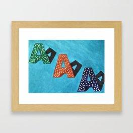 Aa Framed Art Print