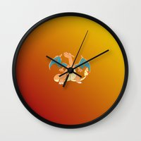 charizard Wall Clocks featuring charizard by pokegirl93