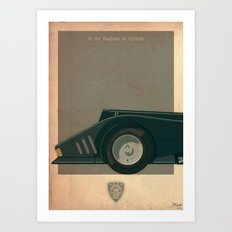 Batmobile 89 part I of III Art Print