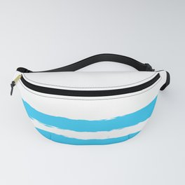 Simply hand-painted teal stripes on white background - Mix & Match Fanny Pack