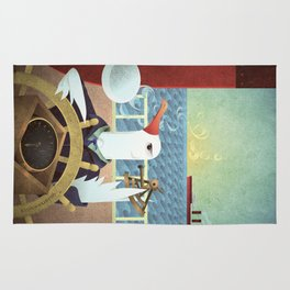 A-Z Animal, Albatross Quartermaster - Illustration Rug