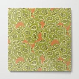 olive orange algae Metal Print