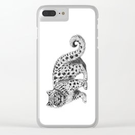 Snow Leopard cub g142 Clear iPhone Case