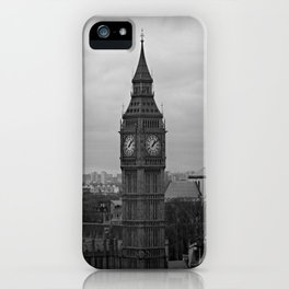 Big Ben Black + White iPhone Case