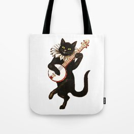Black Halloween Cat for Decor and T Shirts Tote Bag