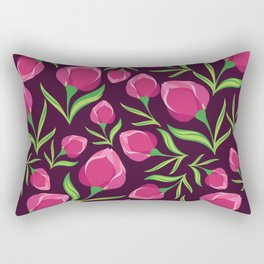 Beautiful pattern with tropical flowers. Rectangular Pillow