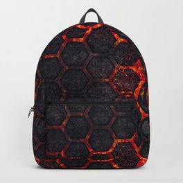 Lava Hexagons Backpack