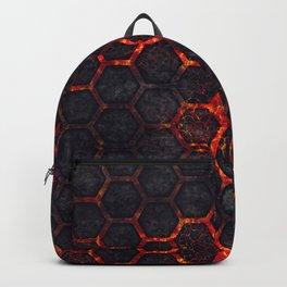 Lava Hexagons Backpack