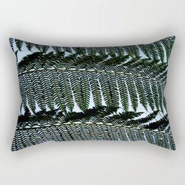 Real Fern Pattern Rectangular Pillow