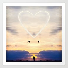 A Love Larger Than Life Art Print