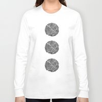 tree rings Long Sleeve T-shirts featuring Growing Old - Tree Rings by Courtnduncan