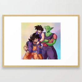 Two Dads Print Framed Art Print