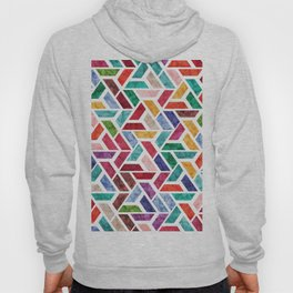 Seamless Colorful Geometric Pattern VIII Hoody