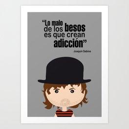 Joaquin Sabina Art Print