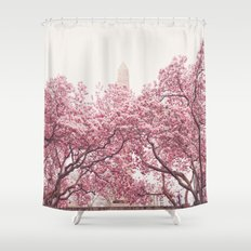 New York City - Central Park - Cherry Blossoms Shower Curtain