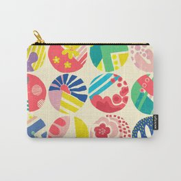 Abstract circle fun pattern Carry-All Pouch