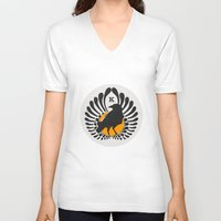 haikyuu V-neck T-shirts featuring Karasuno High Volleyball Club by robin