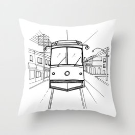 toronto streetcar Throw Pillow