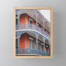 NOLA Lace - New Orleans Architecture Photography Framed Mini Art Print