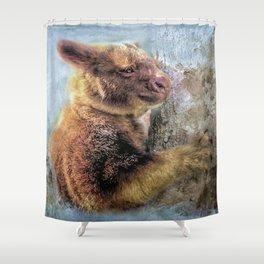 Tree Kangaroo Shower Curtain