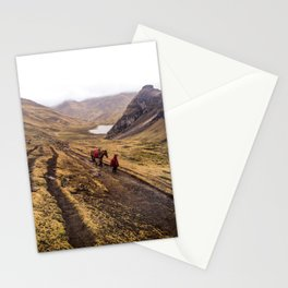 Boy and Horse in Peruvian Mountains Stationery Cards