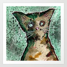 Turtle the turtle shell zombie kitten Art Print