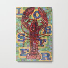 Lobster No. 2 (Nephropidae) Metal Print