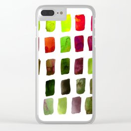 Brushstrokes 1za by Kathy Morton Stanion Clear iPhone Case