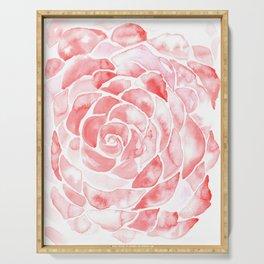 Petals of a Rose Serving Tray