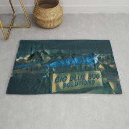 Nibbles Woodaway, Big Blue Bug Termite , Providence, Rhode Island Portrait Rug